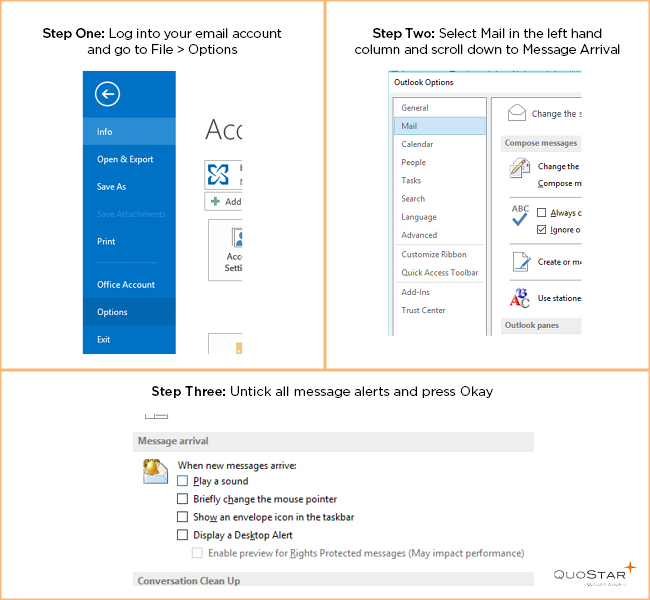 How to turn off email alerts in Microsoft Outlook 2013